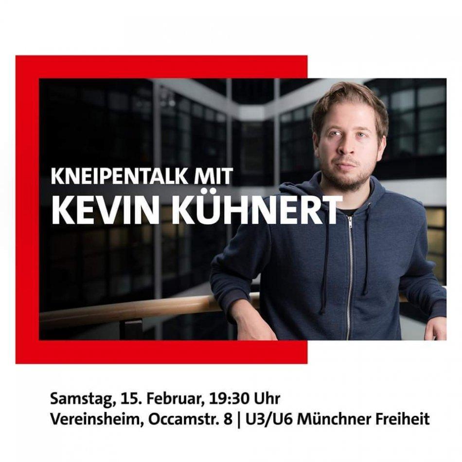 Kneipentalk mit Kevin Kühnert